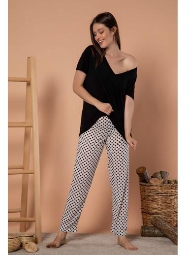 Siyah İnci Pijama altı Renkli